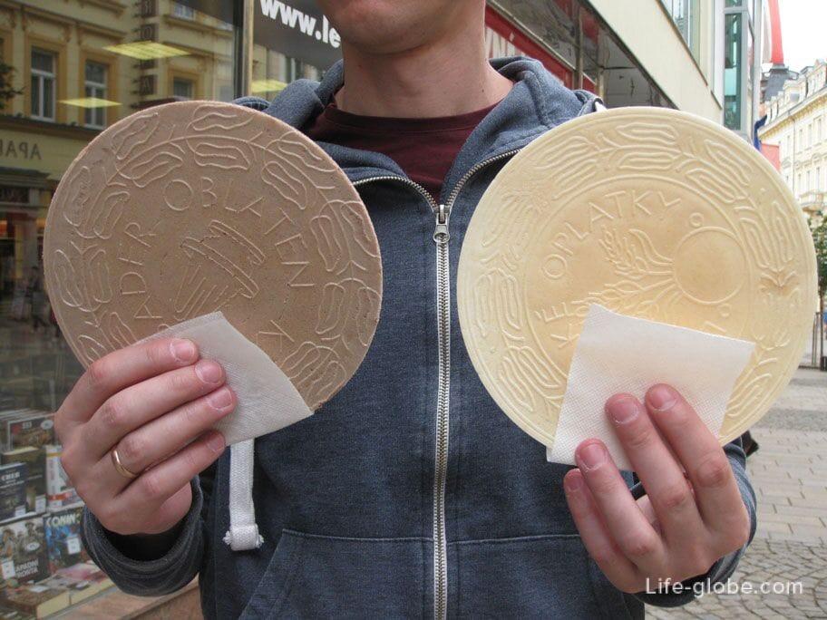 карловарские вафли - оплатки