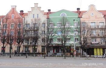 Проспекты Ленинский и Мира в Калининграде (+ улица Театральная)