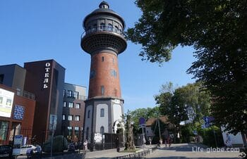Water tower, Zelenogradsk: observation deck and cat museum