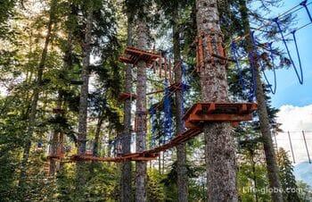 Веревочный парк +1460 на курорте Красная Поляна (Горки Город)
