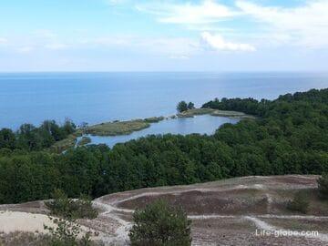 Озеро Лебедь, Куршская коса - самое живописное озеро косы