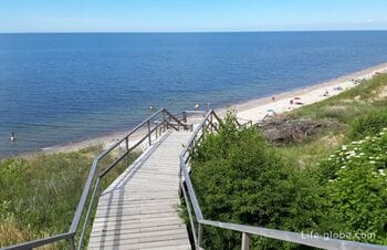 Exit with viewing platforms to the Baltic Sea, between Lesnoy and Royal Forest of the Curonian Spit