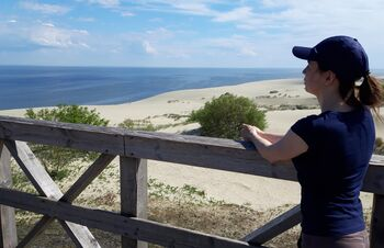 Efa height (Orekhovaya dune), Curonian Spit - the highest dune of the spit and access to the Baltic Sea