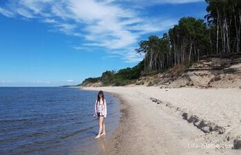 Hiking along the coast of the Curonian Spit: from Zelenogradsk to the village of Lesnoy, Kaliningrad region