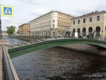 Мучной мост в Санкт-Петербурге - пешеходный мост через канал Грибоедова