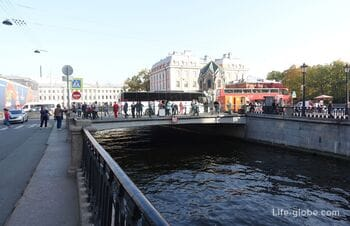 Novo-Konyushenny Bridge in Saint Petersburg, across the Griboyedov Canal