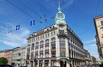 Department store «Au Pont Rouge» in St. Petersburg - Trading house «S. Esders and K. Scheufals»