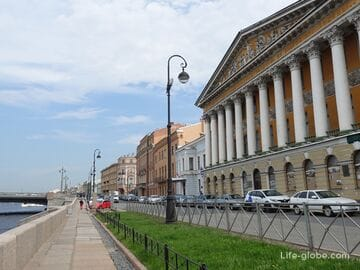 Anglijskaya embankment (English embankment), Saint Petersburg: photos, houses, description