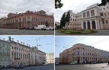 Дворцы на Невском проспекте в Санкт-Петербурге