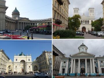 Соборы, церкви и храмы на Невском проспекте, Санкт-Петербург