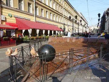 Фонтан «Вращающийся шар» в Санкт-Петербурге (фонтан-часы)