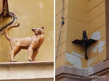 Памятник коту и кошке в Санкт-Петербурге (кот Елисей и кошка Василиса)