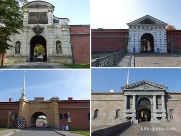 Ворота Петропавловской крепости, Санкт-Петербург (с фото, описаниями и расположением)