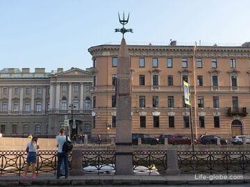Водомерный столб в Санкт-Петербурге - уровень наводнений (обелиск)