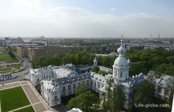 Observation deck in the belfry of the Smolny Cathedral, Saint Petersburg