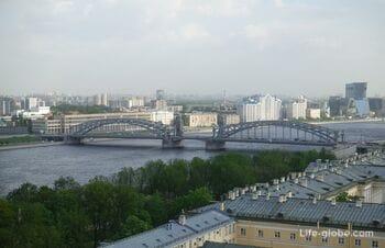 Большеохтинский мост в Петербурге (мост Петра Великого): развод, фото, описание, история