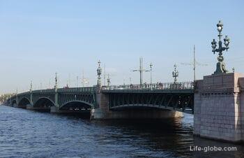 Троицкий мост, Санкт-Петербург: развод, описание, фото, история