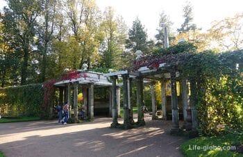 Кагульский обелиск и Собственный садик в Екатерининском парке, Царское Село (Пушкин, Санкт-Петербург)