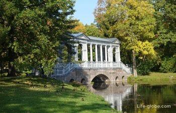 Мраморный мост в Екатерининском парке, Царское Село (Пушкин, Санкт-Петербург)