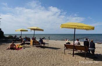Пляж в Отрадном, Светлогорск