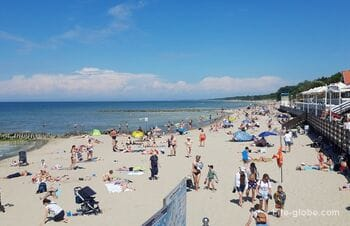 Пляжи в Зеленоградске. Променад в Зеленоградске