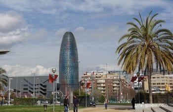 Башня Глориес или башня Агбар в Барселоне (Torre Glòries)