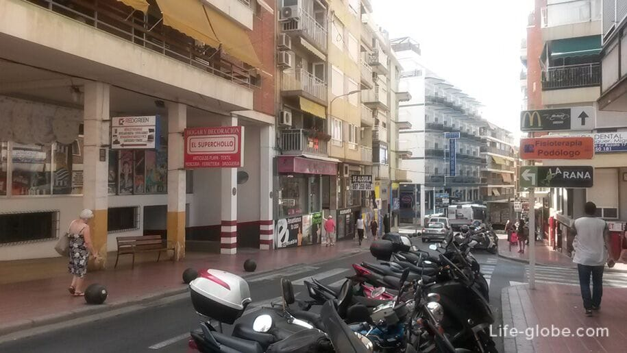 Улицы Бенидорма