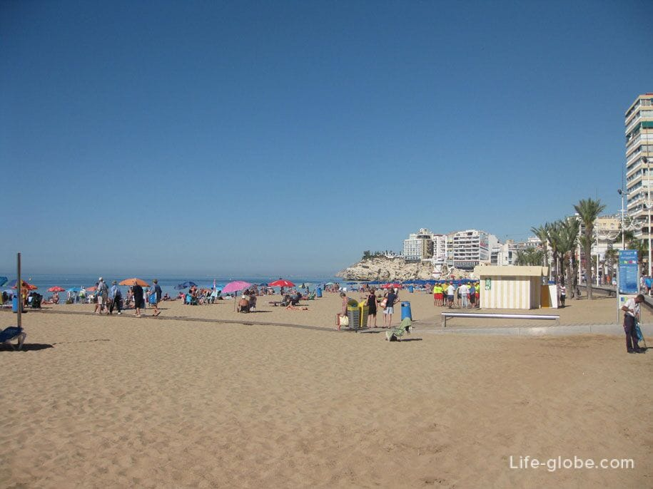 Пляж Levante, Бенидорм