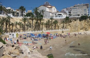 The Mal Pas beach (Playa de Mal Pas) - the most beautiful beach of Benidorm
