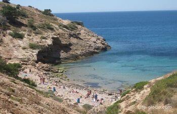 Nudist beaches in Benidorm and the surrounding area