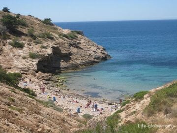 Нудистские пляжи в Бенидорме и окрестностях