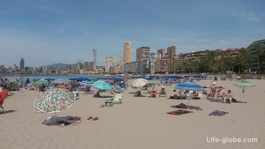 Восточная часть пляжа Поньенте, Бенидорм