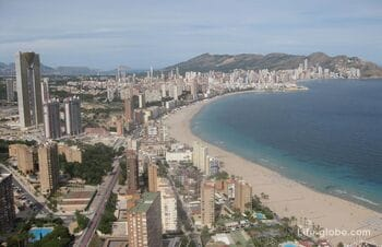 Viewpoint Gran Hotel Bali in Benidorm is the highest point of Benidorm