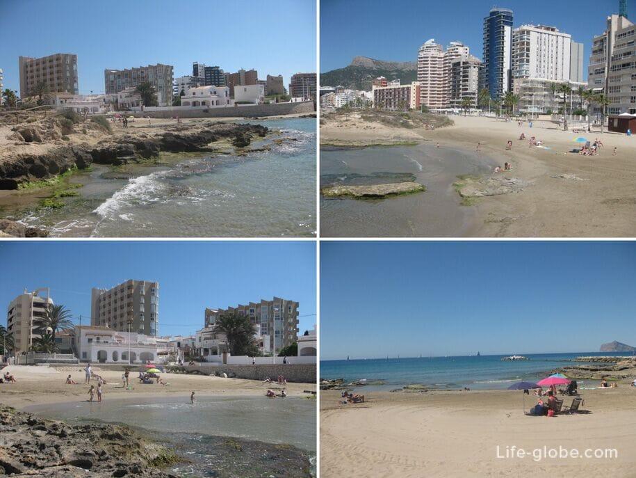 Левая сторона пляжа Ареналь-Бол, Кальпе