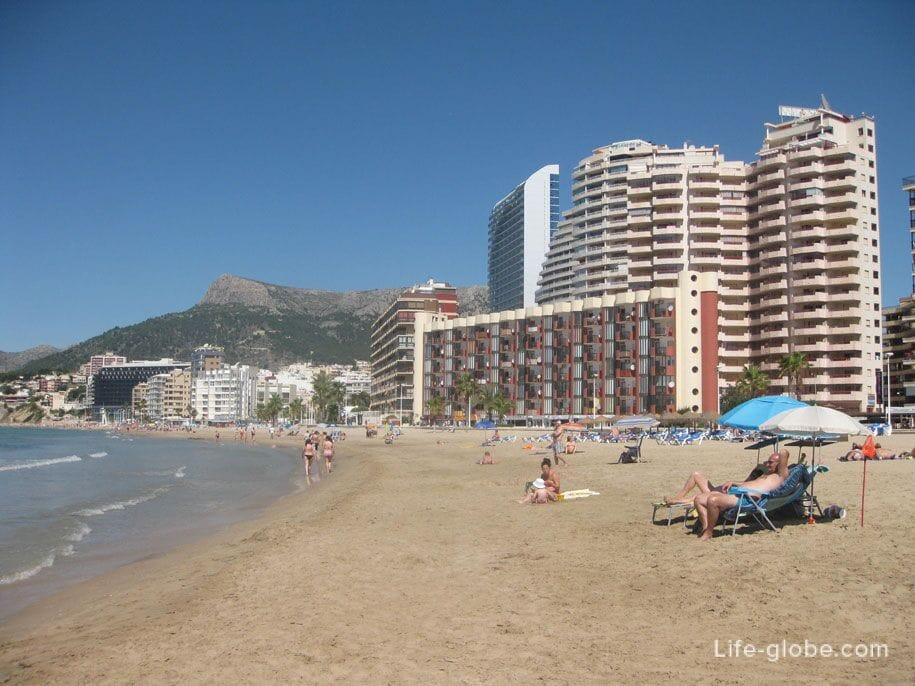 Пляжи Кальпе - песчаный пляж Ареналь-Бол