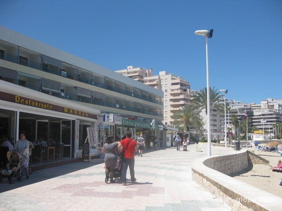 Променад, пляж Ла Фосса, Кальпе