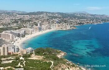 Пляж Ла Фосса (Playa De La Fossa) - второй по популярности в Кальпе