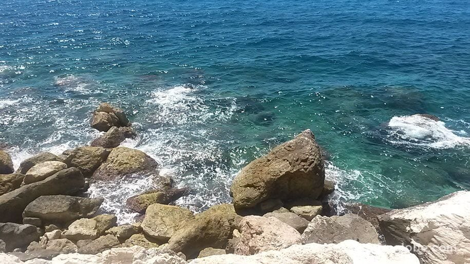 Средиземное море, набережная принца Астурии, Кальп