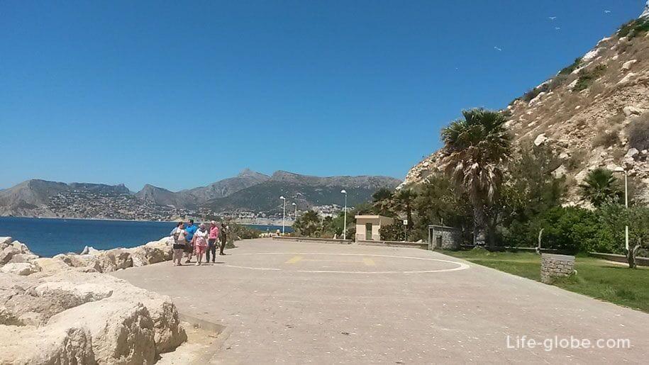Вертолетная площадка на набережной принца Астурии, Кальп