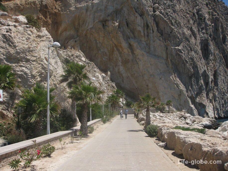 Достопримечательности Кальпе - набережная Астурии