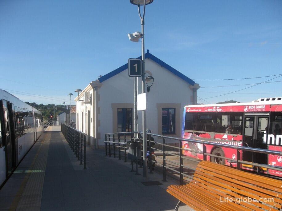 Жд станция в Кальпе