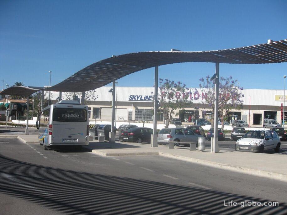 Автобусная станция в Кальпе