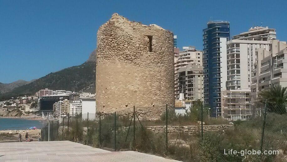 Достопримечательности Кальпе - Башня-мельница Морелло
