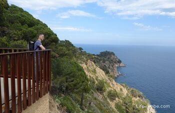 Пеший туристический маршрут: пляж Кодолар - пунта дес Кардс, Тосса-де-Мар (побережье и смотровые площадки)