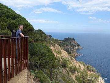 Hiking tourist route: Kodolar beach - Punta d'es Cards, Tossa de Mar (coast and observation platforms)