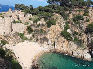 Пляж Кодолар, Тосса-де-Мар (Playa d'es Codolar)