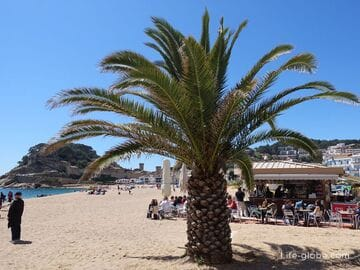 Beaches Tossa de Mar. Coast of Tossa de Mar