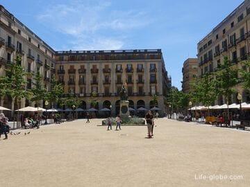 Площадь Независимости, Жирона (Plaça de la Independència) - самая популярная площадь города