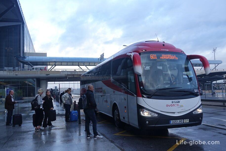 Автобусы аэропорт Малага - Марбелья