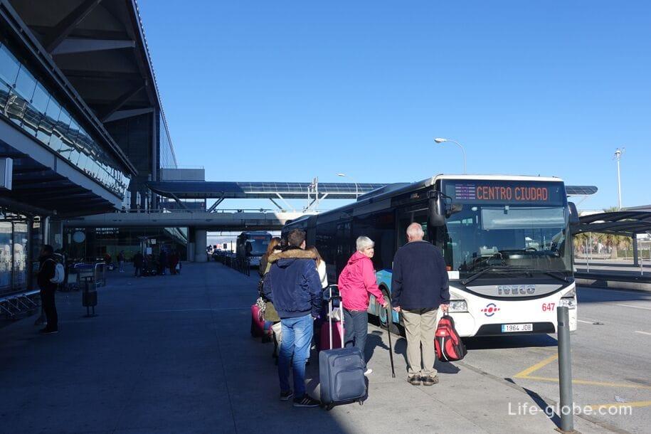 Автобус аэропорт Малага - центр Малага
